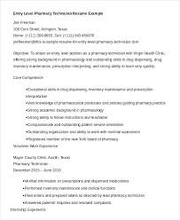 Example Resume Of Pharmacy Assistant With Technician