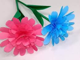 How To Make Beautiful Easy Paper Stick Flower Making For
