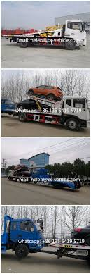 Dongfeng 10tons Three Cars Carrier Recovery Wrecker Flatbed Tow ...