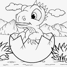 Ba Dinosaur Coloring Pages Az Pertaining To Baby