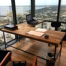 desk wood computer desk with file cabinet rustic standing desk