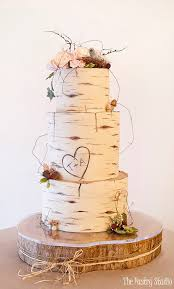 Birch Wood Wedding Cake Custom Designed by The Pastry Studio