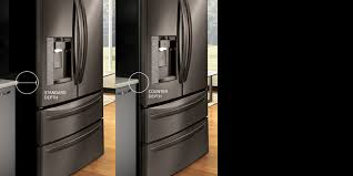 Counter Depth Refrigerator Dimensions Sears by Lg Side By Side Refrigerators With Large Capacity Lg Usa