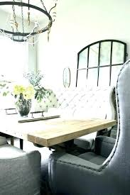 Banquette Settee Dining Curved Bench Table Gorgeous