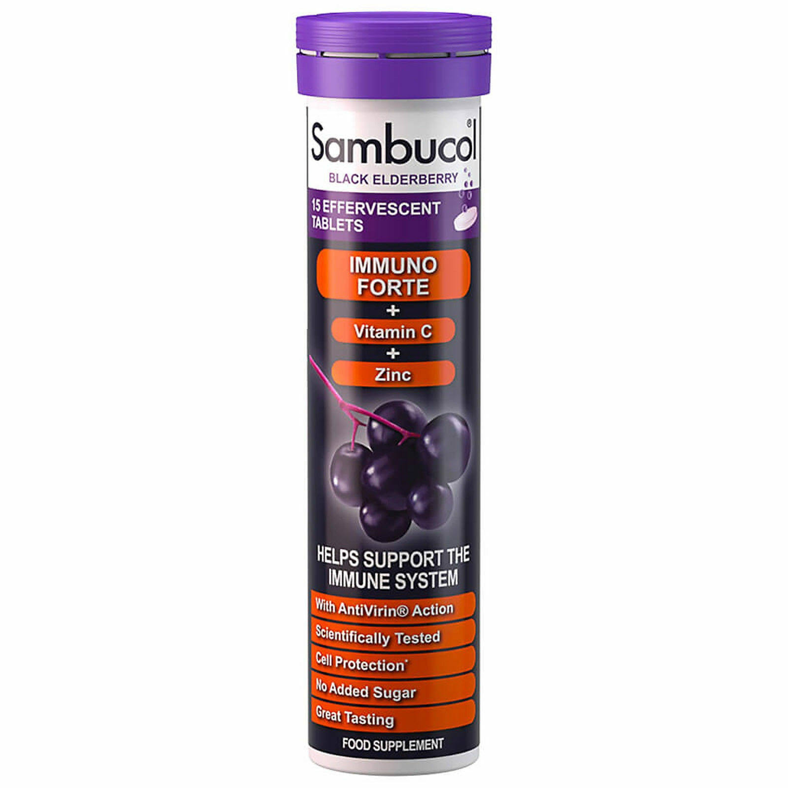 Sambucol Black Elderberry Effervescent Tablets - 15 Tablets