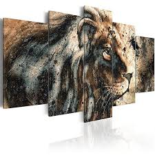 murando acrylglasbild abstrakt 100x50 cm 5 teilig