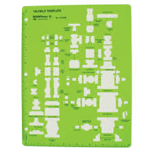 Oil Field Template Drafting Supplies Templates And Drawing Plumbing Piping