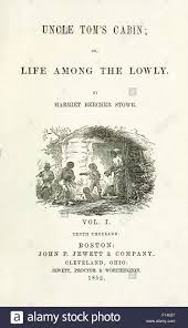 Title Page From Volume 1 US First Edition Of Uncle Toms Cabin Or