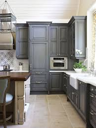 Gray Painted Kitchen Cabinets Traditional kitchen