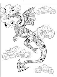 A Dragon From One Of Creatively Calm Studios Adult Coloring Books