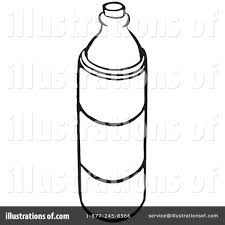 Royalty Free RF Water Bottle Clipart Illustration by Picsburg