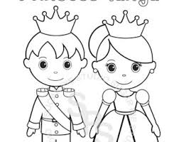 Personalized Printable Princess Prince Knight Birthday Party Favor Childrens Kids Coloring Page Activity PDF Or JPEG