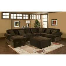 Chocolate Corduroy Sectional Sofa by Serta Upholstery Sectional Pieces Fabric Ridge Chocolate