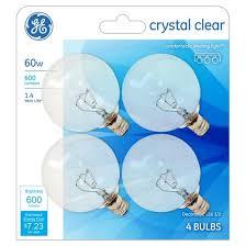 ge 60 watt g16 incandescent light bulb 4 pack soft white