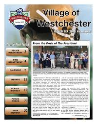 West Chester Halloween Parade Route by September 2016 Village Of Westchester Newsletter By Village Of