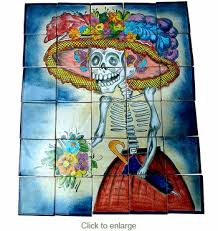 wall mural catrina day of the dead