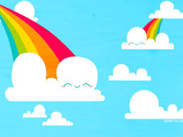 Clouds And Rainbows Wallpaper By Bombthemoon On Clipart Library Pink Fluffy Unicorn
