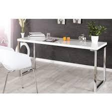 bureaux blanc laqué bureau laque blanc en 140 dans meuble de bureau achetez au