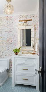 Yellow And Gray Bathroom Decor by Best 25 Bathroom Wallpaper Ideas On Pinterest Half Bathroom