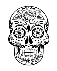 Easy Sugar Skull Day Of by Day Of The Dead History And Free Sugar Skulls Coloring Pages