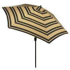 9 Ft Patio Umbrellas With Tilt by Hampton Bay 9 Ft Aluminum Patio Umbrella In Sunbrella Canvas