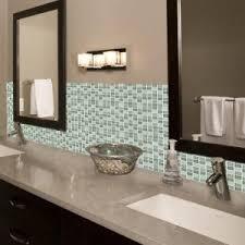 Tiles For Backsplash In Bathroom by Inspiration Glass Mosiac Tile Backsplash Bathroom For Home Design
