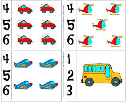 Number Cards To Use Along With A Preschool Transportation Theme