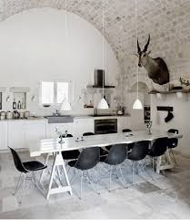 White Country Kitchen With Rustic Industrial Style