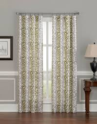Green Striped Curtain Panels by Damask Scroll Stripe Curtain Panel Curtainworks Com