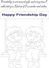 Friendship Day Coloring Page For Kids 6