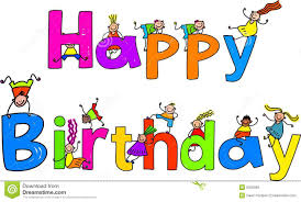 Animated happy birthday clipart illustration image