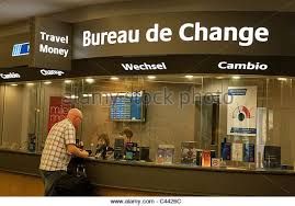 bureau de change nord bureau de change and airport stockfotos bureau de change and