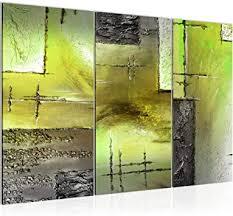runa abstrakt bild wandbilder wohnzimmer grün weiss