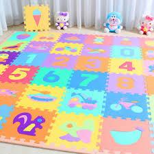 10 x Baby Soft EVA Foam Play Mat Alphabet Numbers Puzzle DIY Toy