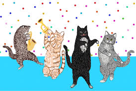 Happybirthday Cat GIFs dontmakemagsdoodle animated cats Cats Pinterest