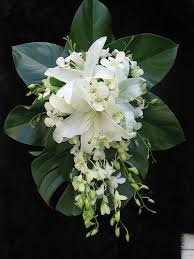 Lily And Orchid Brides Bouquet