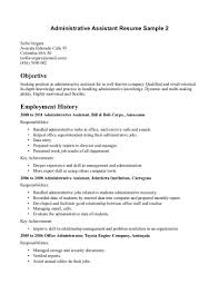 Resume Objective Examples For Administrative Assistant Svoboda2 Com