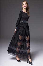 attractive black short sleeve maxi dress summer collection