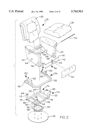 Shermag Rocking Chair Assembly by Patent Us5765913 Glider Chair Google Patents