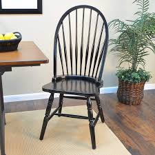 Carolina Classic 1C53-969 Cottage Windsor Chair, Antique Black
