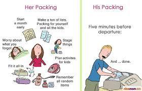 How Men Pack For A Trip Vs Women