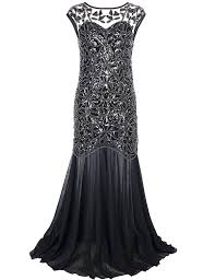 amazon com prettyguide women u0027s 1920s black sequin gatsby maxi