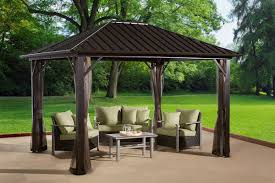 Outsunny Patio Furniture Instructions by Sojag Genova 12 Ft W X 10 Ft D Aluminum Permanent Gazebo