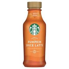 Dunkin Donuts Pumpkin Spice Latte Caffeine by Starbucks Iced Latte Pumpkin Spice 14 Fl Oz Bottle Target