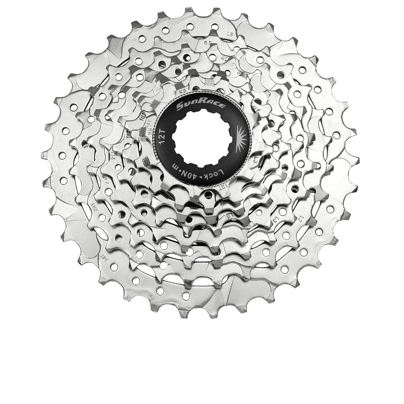 Sunrace CSM63 Nickel Plated Cassette - 7-Speed, 11-28T
