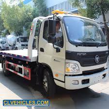 100 Used Tow Trucks Hot Item Foton 4X2 6 Wheelers 4ton 6ton 8ton Truck Wrecker Recovery Truck