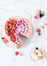 erdbeer herz torte zum muttertag