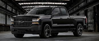 Which Chevy Silverado 1500 Special Editions Are The Best? - Martin ... White Black Chevy Silverado Gallery Photos Rocky Ridge Lifted Truck Chevrolet Trucks Back In Black For 2016 Kupper Automotive Group News Chevrolet Trucks Pinterest 2013 Sema Concept The Wheel Back In For Special Edition 85 Custom Designs Greattrucksonline Wheels And Tires 18 19 20 22 24 Inch Intros Realtree A Z71 Model With