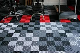 Grey artistic interlocking rubber gym floor tiles