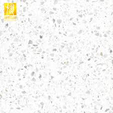Modern Polish White Terrazzo Floor Tiles